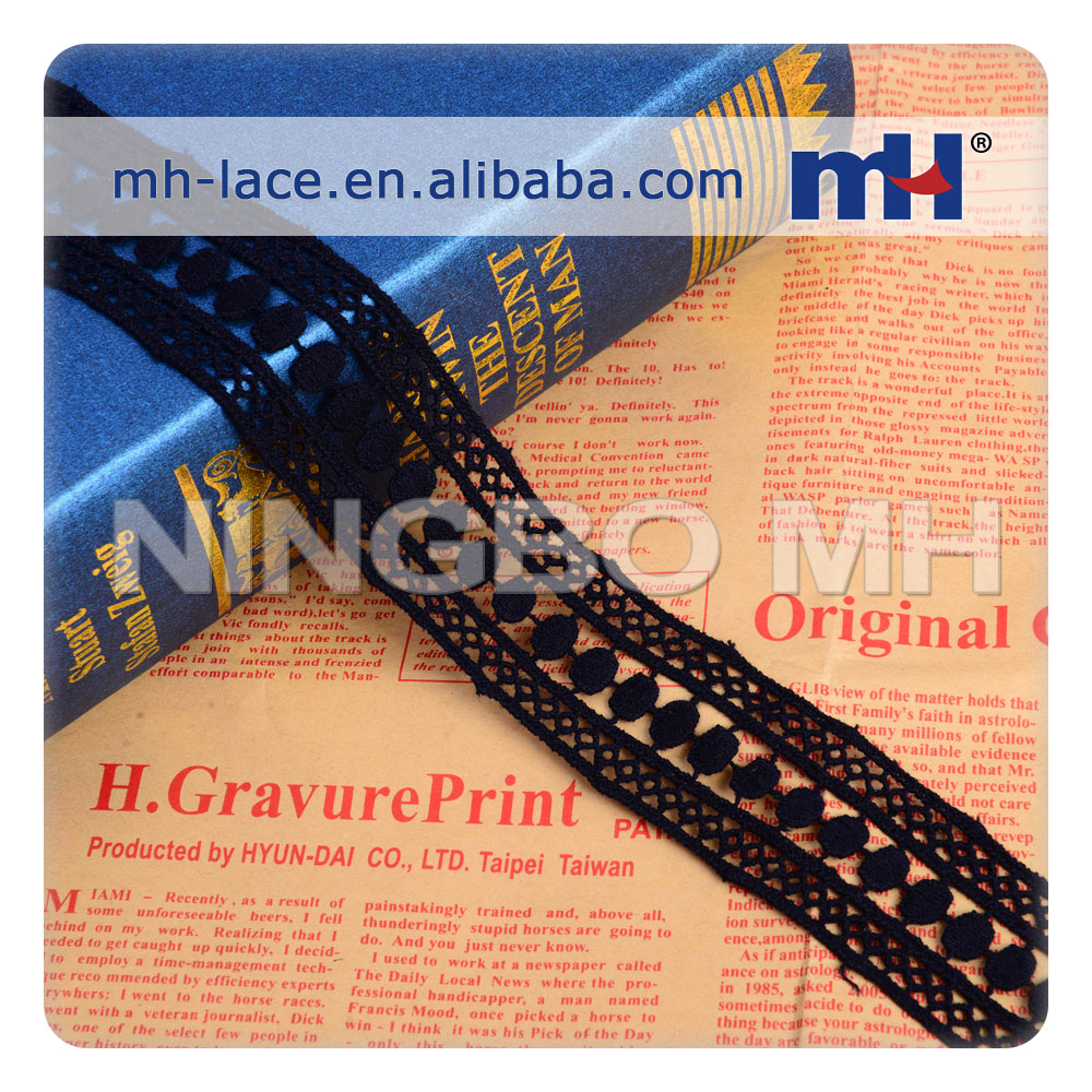 french Fashion Polyester Chemical lace Trimming