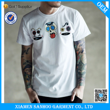 Slim Fit Low Moq Wholesale Tee Shirt Fabric Blank Custom Your Own Design 100% Cotton Silk Screen Printing
