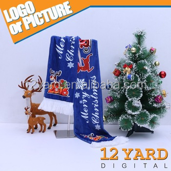Fashional sport promotional thick scottish cashmere scarf