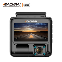 EACHPAI X100 Uber Dual Dash Cam Dual 1920x1080P Forward and Inward Dash Camera Super Capacitor WiFi GPS Car Camera