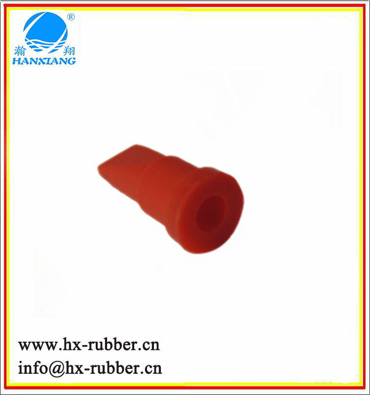 black customized silicone duckbill check valve/red one way valve