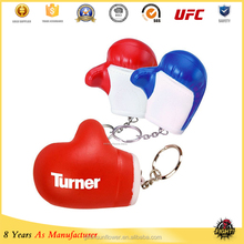 Plastic type 2016 hot sale boxing glove keyring for ornaments manufacturer