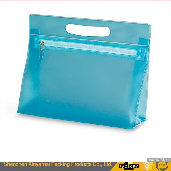 LUXURIOUS color clear vinyl makeup bag travel cosmetic bag clear transparent pvc Make Up Organizer Bag with Zipper
