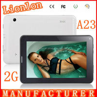 7 inch tablet pc 2g phone calling tablet pc 3g Allwinner A13 512MB/4GB android 4.1 Dual camera tablet pc 3g