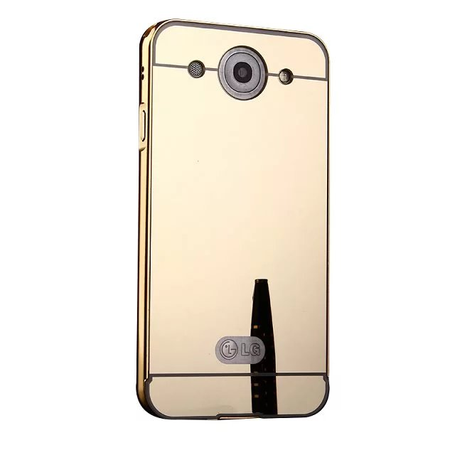 electroplating mirror aluminium bumper metal case for lg optimus g pro f240 back cover