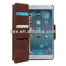 High Quality Vintage Magnetic Flip PU Leather with Card Slot Holders Case For Apple iPad mini and iPad mini Retina