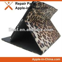 the New IPad Leather case for withleopard pattern For New ipad case