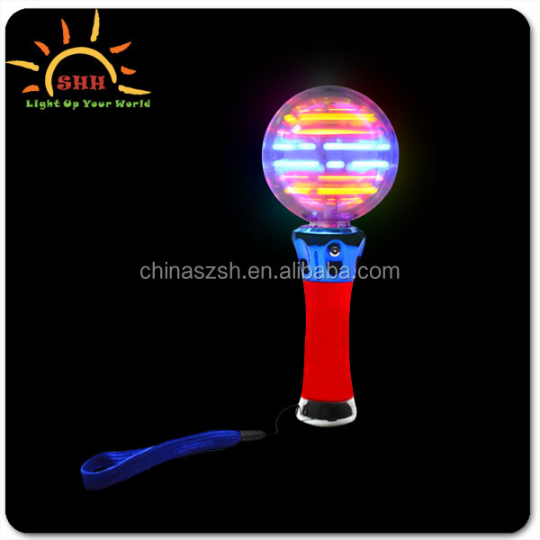 NEW Flashing Light-Up Rave Party Toy Spinning LED Wand