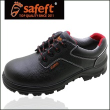 China factory Light weight high quality leather Black industrial safety/work boots