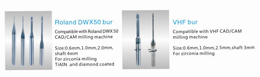 Dental metal milling bur use Roland DWX50