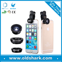 Oldshark Hot selling mobile phone accessories 3 in 1 simple fisheye + wide angle lens for htc desire 816