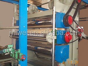 textile 3 rollers calender machine for fabric