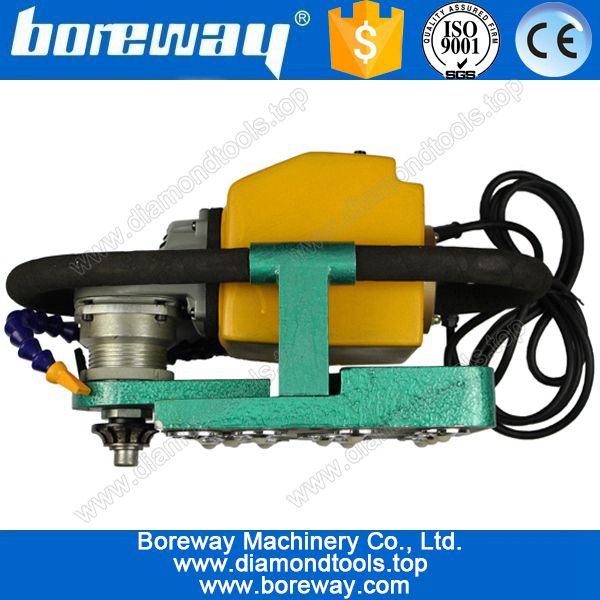Boreway protable profile router machine for stone slab with diamond bits