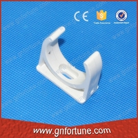 White plastic pipe supports PVC pipe saddle price