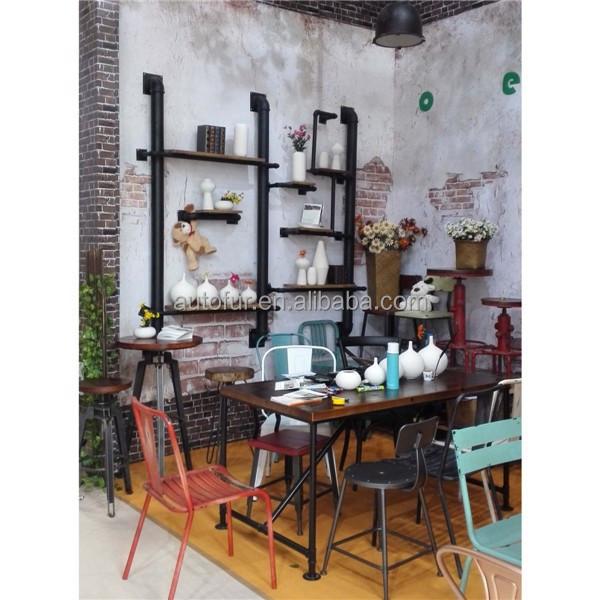 Rustique industrielle primitative r g n r tuyau acajou tag re murale autres - Etagere murale rustique ...