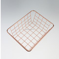 549-97C hot sale mini small size rose gold wire basket for kitchen bathroom