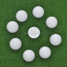 2016 golf ball White one Piece Driving Range Golf Balls Hit Away Practice 1 layer Factory Price OEM Custom logo High quality