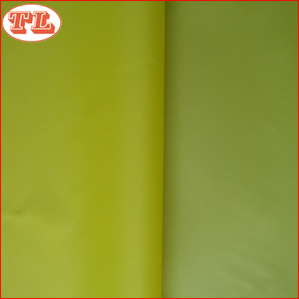 100 % polyester 70d 190T pu coated waterproof polyester taffeta fabric for lining