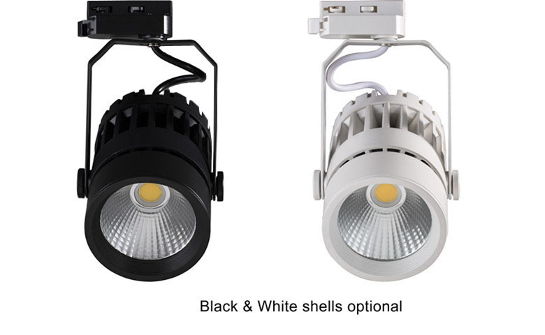 PWM dimming COB high power dustproof 3 years warranty CRI80 30w nature white track light led