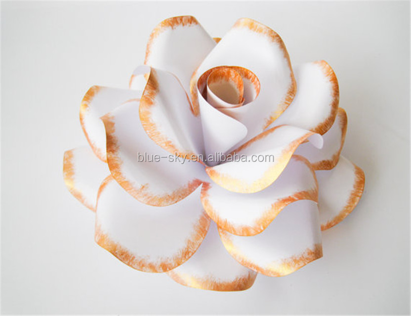 Giant White Paper Rose Handmade Paper Flower Marriage Decoration Rose Flower