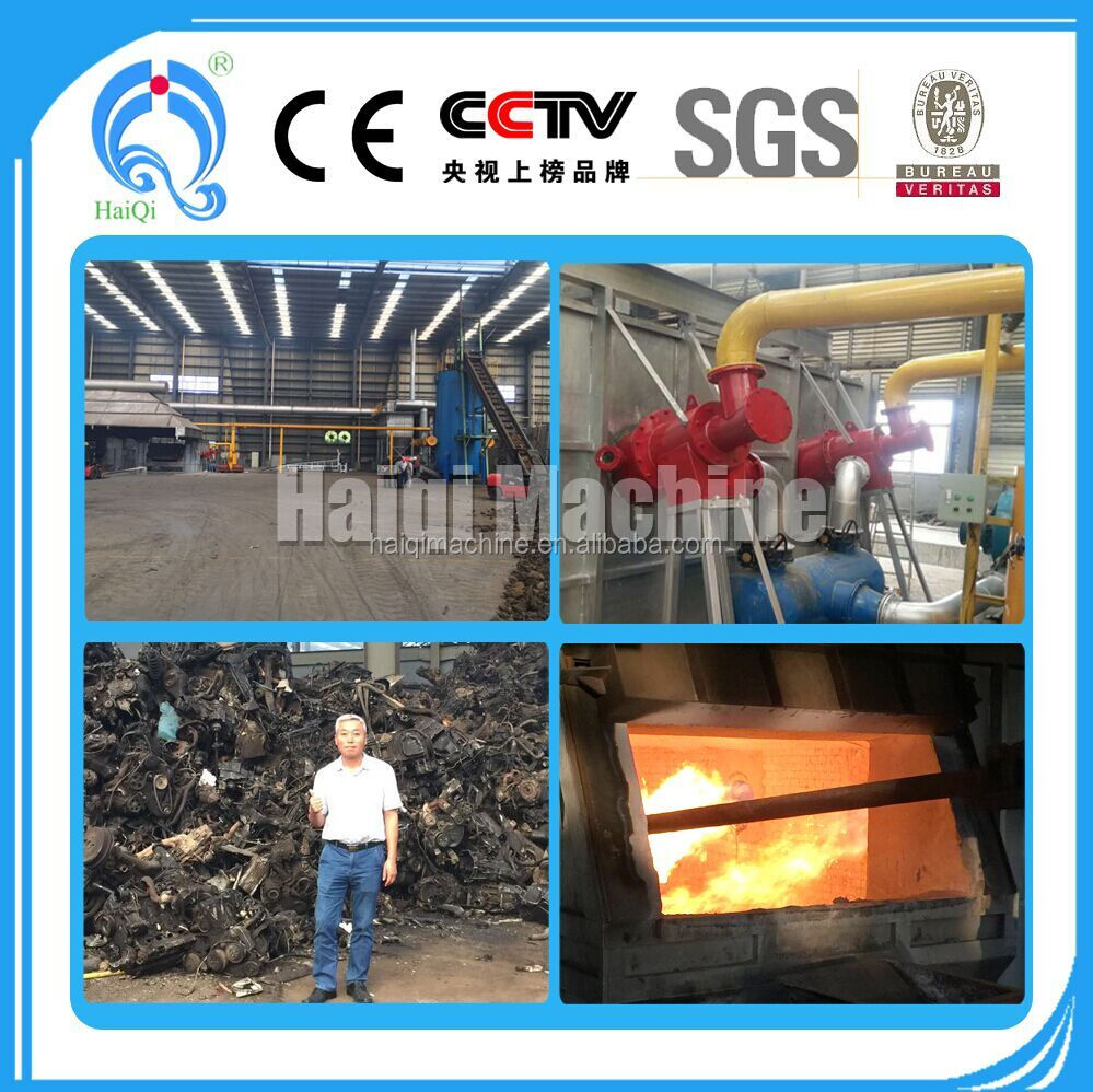 Industry waste/car waste gasifier system connect with aluminum melting furnace