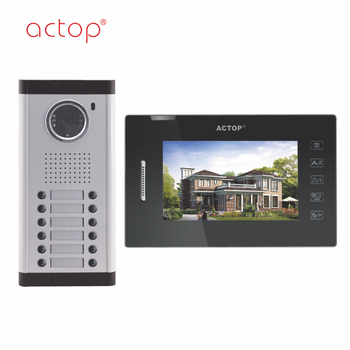 "Night vision 7"" Video Door Phone Apartment Intercom Entry Systems"