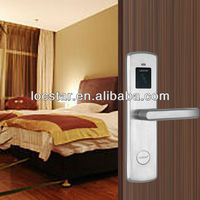 Anti-theft security electronic lock for automatic doors