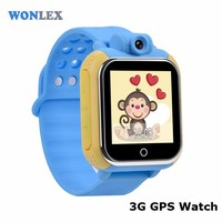 2017 New Arrival Wholesale Anti-lost SOS Help Security Wristbands Wonlex GW1000 GPS GPRS Watch for Children with Voice Monitor