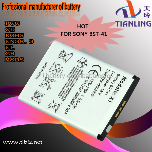 3.7v 1650mah Li-ion Bst-41 Mobile Phone/cell Phone Battery For Sony Ericsson X2
