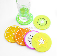 Cute Fruit Silicone Coffee Placemat Cartoon Drink Coaster Cup Glass Beverage Holder Pad Mats&Pads Table Decoration