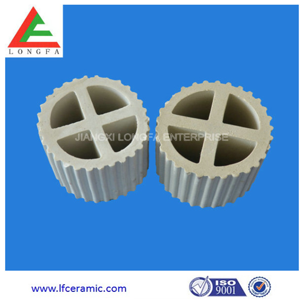 Customized Ceramic cross baffle ring Cross Partition Ring manufacturer