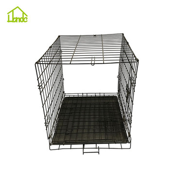 Welded black pet supplies plus dog crates with handle