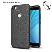 HUYSHE Factory Supply for Xiaomi Redmi Note 5A Litchi Texture Leather Design Silicone Soft TPU Mobile Phone Case