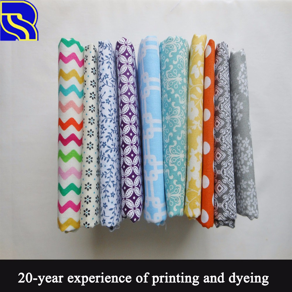 western textile cool and mild 100% cotton satin printed fabric