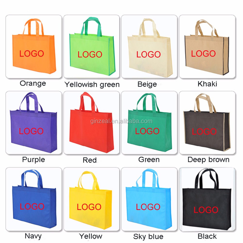 Custom Printed Logo Gift Non Woven Bag Shopping Handle Non-woven Cloth Bag For Garment