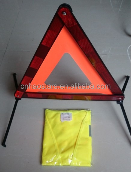 Emergency Safety Kits for Auto Car Use with Warning Triffic Signs safety vest