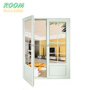White plastic balcony door frame covering