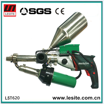 Hand Welding Extruder Machine Fusion Pistol LDPE HDPE PP Granules Plastic Extrusion Welding Gun