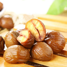 Whole sweet roasted chestnuts shelled