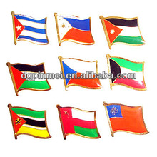 Various design metal flag pins with country flags