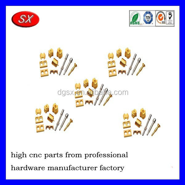 customized CNC electronic computer electrical hardware parts small brass aluminium cnc machining part service