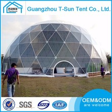 2017 hot sale new arrival 25m diameter huge geodesic dome tent