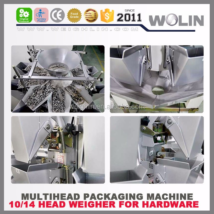 Welin Factory design and build 10head 14head high speed accuracy multihead weigher for hardware and plastic material