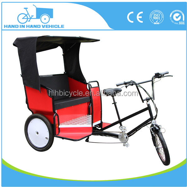 CE approved 3 wheel rickshaw tricycle for 2 passenger