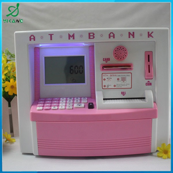 Promotional item ABS plastic atm bank money saving boxes toy atm machine toy for children YK-1306