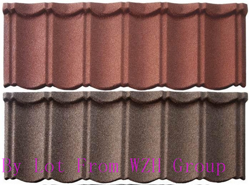 Factory SONCAP classic type stone coated metal roof tile/ISO colorful stone coated metal roofing shingles
