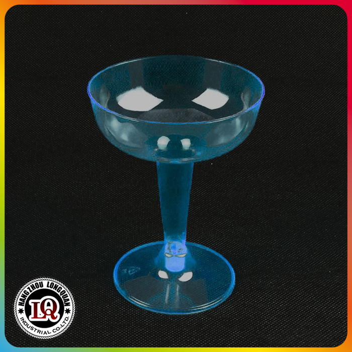 Disposable 4oz PS Neon Colored Champagne Glass