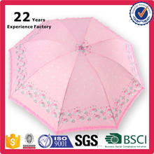 Promotional Items China Small Quantity Personalized 3 Foldable Cheap Pink Ruffle Umbrella