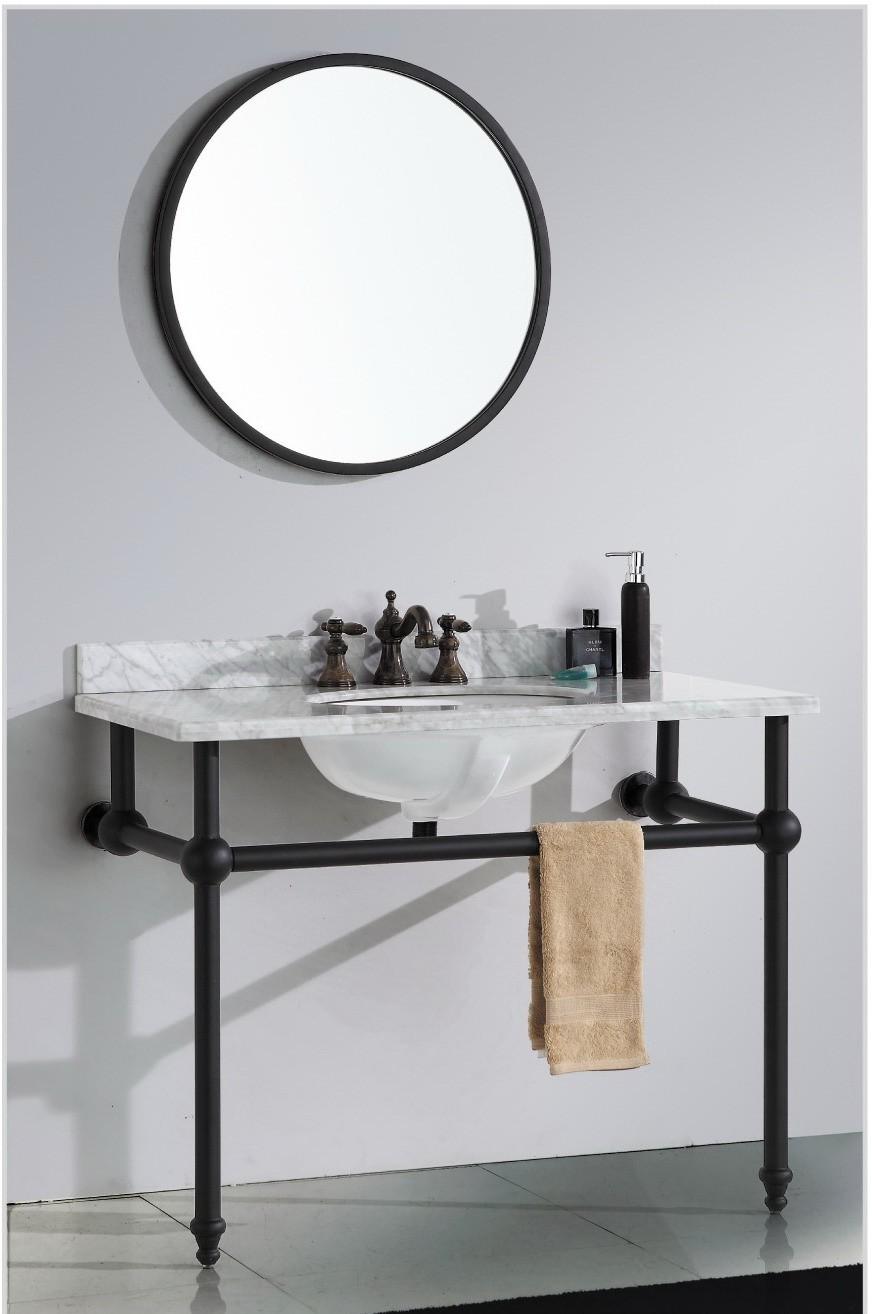 Luxury Silver And Black Color Basin Bathroom Vanity Mirror Cabinet With Acrylic Bath Shelf Buy