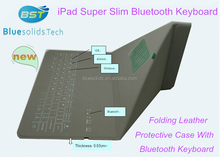 factory original bluetooth keybaord leather case for Ipad/ tablet PC